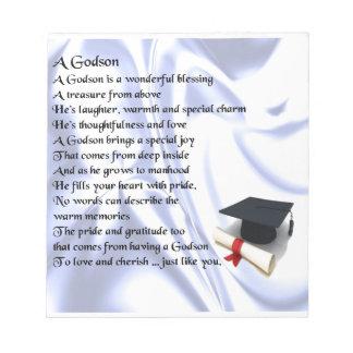 Godson poem - Graduation design Note Pad