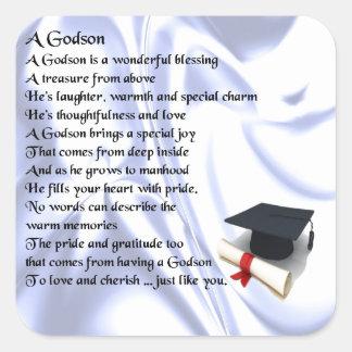 Godson poem - Graduation design Square Sticker