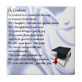 Godson poem - Graduation design Tile