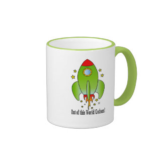 Godson Rocket Out-of-this World Ringer Coffee Mug
