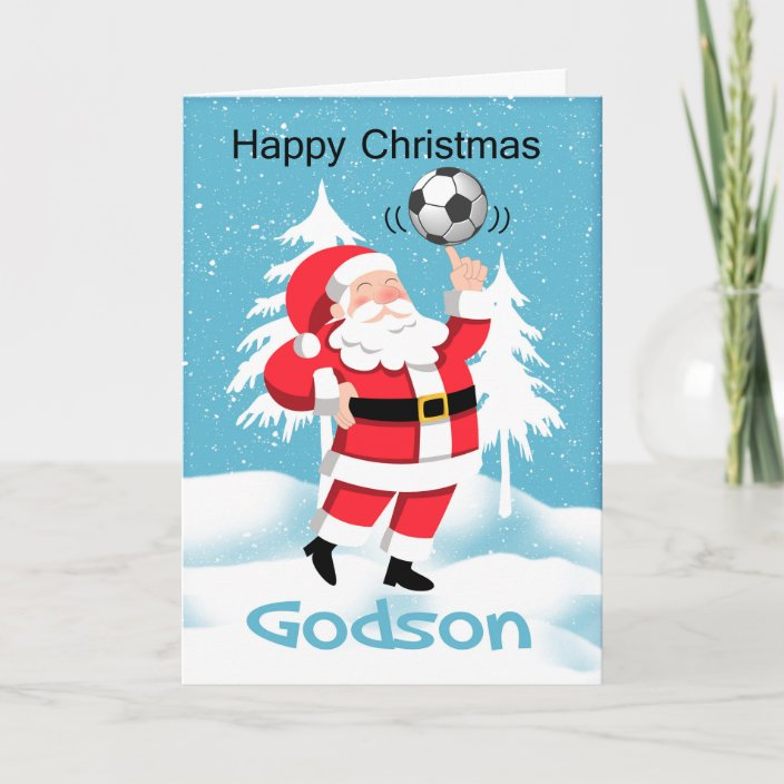 To A Wonderful Godson Merry Christmas 3D Effect Christmas Greeting Card