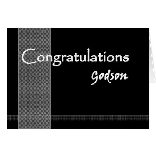 GODSON Wedding Congratulations Greeting Card