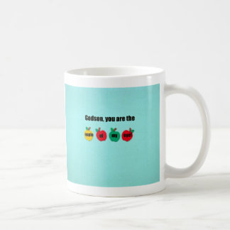 Godson, you are the apple of my eye! coffee mug