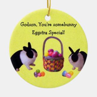 Godson, You're somebunny Eggstra Special! Ceramic Ornament
