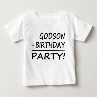 Godsons Birthdays : Godson + Birthday = Party Baby T-Shirt