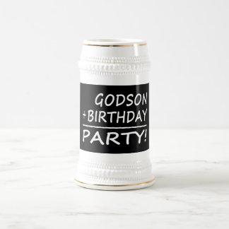 Godsons Birthdays : Godson + Birthday = Party 18 Oz Beer Stein