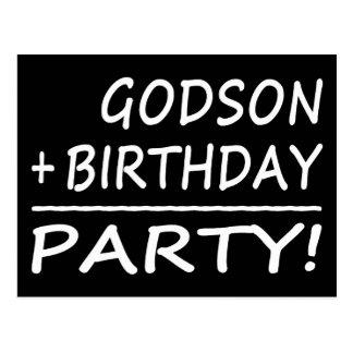 Godsons Birthdays : Godson + Birthday = Party Postcard