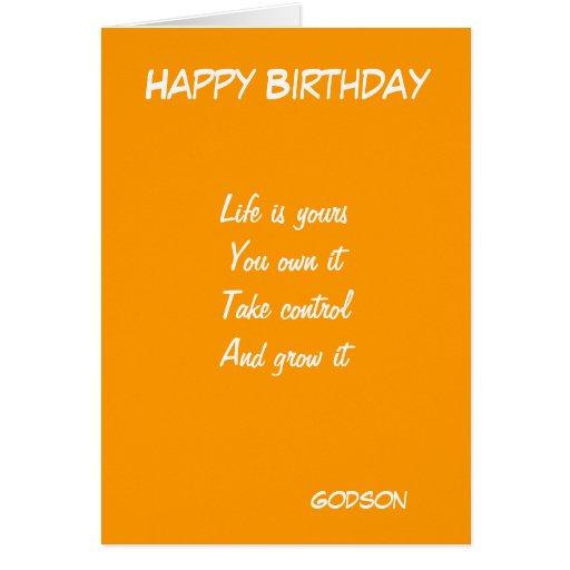 Godson's Motivational Birthday Greeting Cards