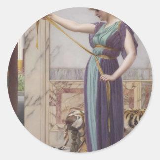 Godward - A Pompeiian Lady Classic Round Sticker