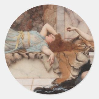 Godward - Mischief and Repose Classic Round Sticker