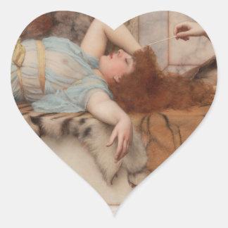 Godward - Mischief and Repose Heart Sticker