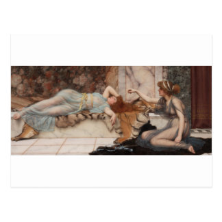 Godward - Mischief and Repose Postcard