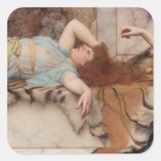 Godward - Mischief and Repose Square Sticker