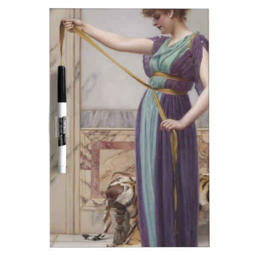 Godward - señora de Pompeiian Pizarra Blanca