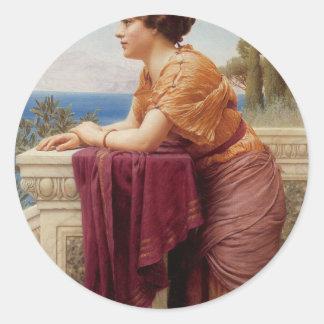 Godward -  The Belvedere Classic Round Sticker