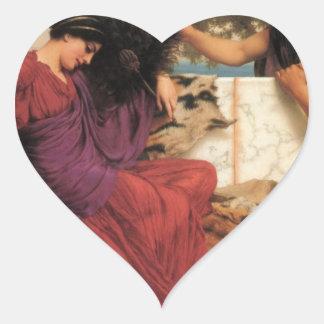 Godward - The Old, Old Story Heart Sticker