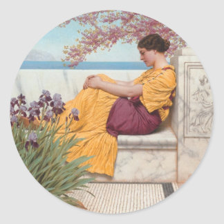 Godward - Under the Blossom that Hangs on the Boug Classic Round Sticker