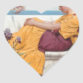Godward - Under the Blossom that Hangs on the Boug Heart Sticker