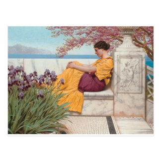 Godward - Under the Blossom that Hangs on the Boug Postcard