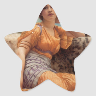 Godward - With Violets Wreathed and Robe of Saffro Star Sticker
