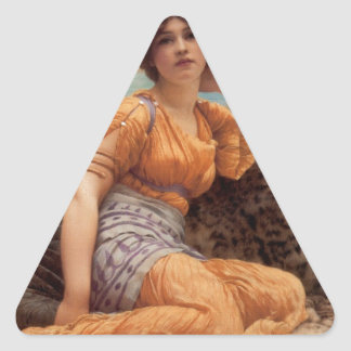 Godward - With Violets Wreathed and Robe of Saffro Triangle Sticker