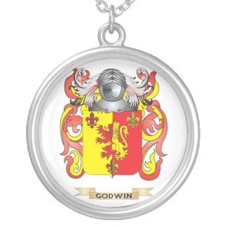 Godwin Coat of Arms (Family Crest) Silver Plated Necklace