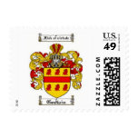 Godwin family crest in yellow and red postage stamps