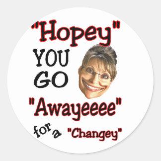 goeee away classic round sticker