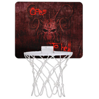 Goes to hell mini basketball backboard