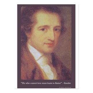 """Goethe """"amor o"""" una taza más plana de las camiseta postales"""