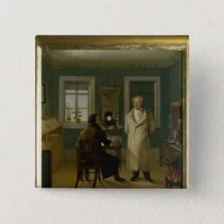 Goethe Dictating to his Clerk John, 1834 Pinback Button