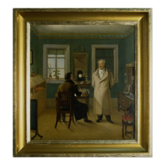 Goethe Dictating to his Clerk John, 1834 Poster