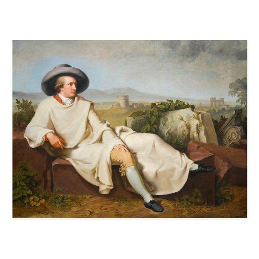 Goethe en la Campaña romana por Tischbein 1787 Tarjetas Postales