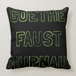 GOETHE FAUST MURNAU THROW PILLOW