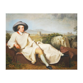 Goethe in the Roman Campagna by Tischbein 1787 Canvas Print