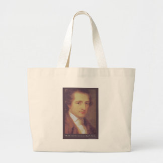 "Goethe ""Love Or Flatter"" Love Quote Gifts Tees Mug Large Tote Bag"