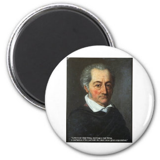 Goethe Love Quote Gifts Cards Love/Ideal Thing 2 Inch Round Magnet
