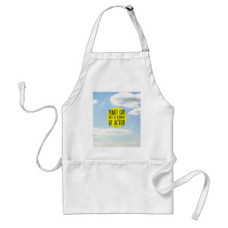 "Goethe Quote ""Doubt Can Only be Removed By Action"" Adult Apron"