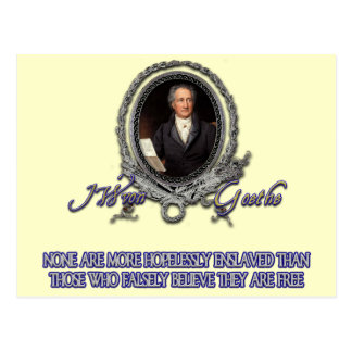 Goethe Quote on Freedom and Delusion Postcard