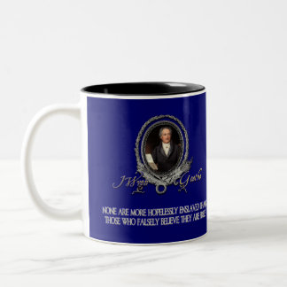 Goethe Quote on Freedom and Delusion Two-Tone Coffee Mug