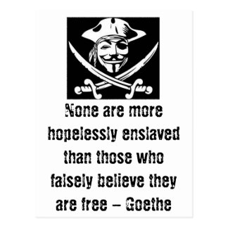 Goethe Quote w/ Anonymous Pirate Postcard
