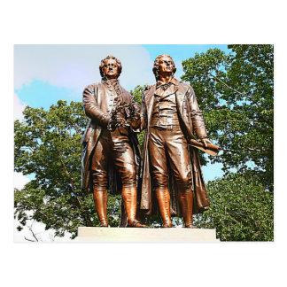 Goethe–Schiller Monument Postcard