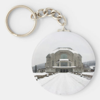 Goetheanum, Dornach, Basel, Switzerland Basic Round Button Keychain