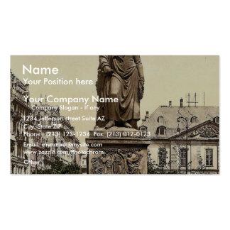 Goethe's Monument, Frankfort on Main (i.e. Frankfu Business Card