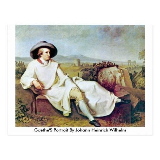 Goethe'S Portrait By Johann Heinrich Wilhelm Postcards