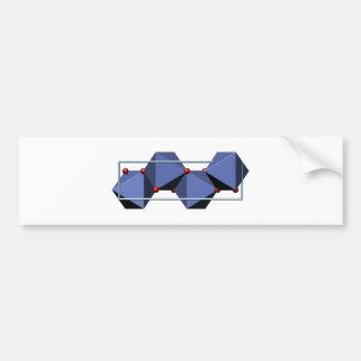 Goethite molecule bumper stickers