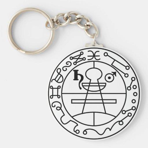 Goetia Seal of Solomon Basic Round Button Keychain