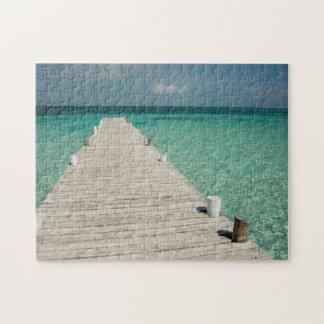 Goff Caye, a popular Barrier Reef Island Jigsaw Puzzle
