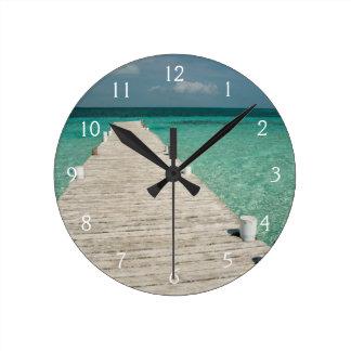 Goff Caye, a popular Barrier Reef Island Round Clock