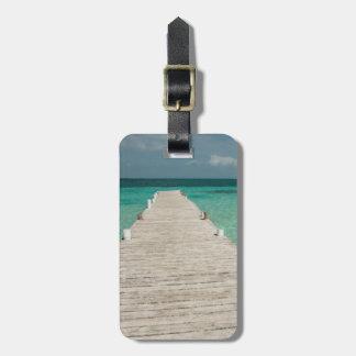 Goff Caye, una isla popular de la barrera de Etiqueta De Maleta